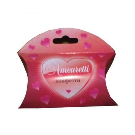 Набор конфетти Амуретти (бело-розовое) в футляре