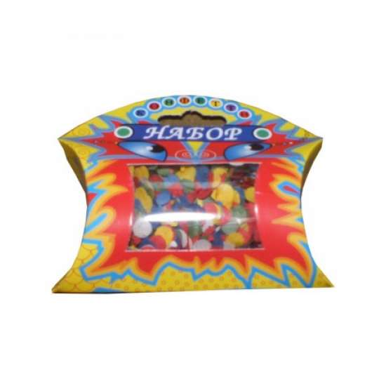 Набор конфетти в футляре с окошком