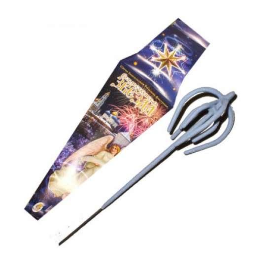 Свеча бенгальская фигурная объемная Рождественская звезда 485 мм