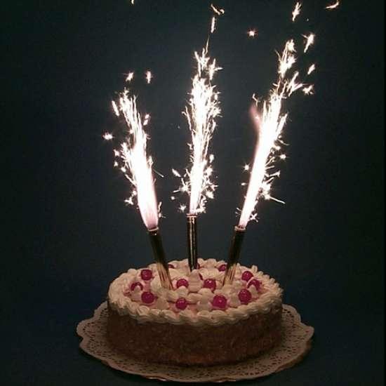 Свечи в торт 10см