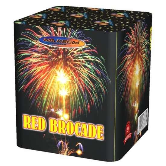 RED BROCADE